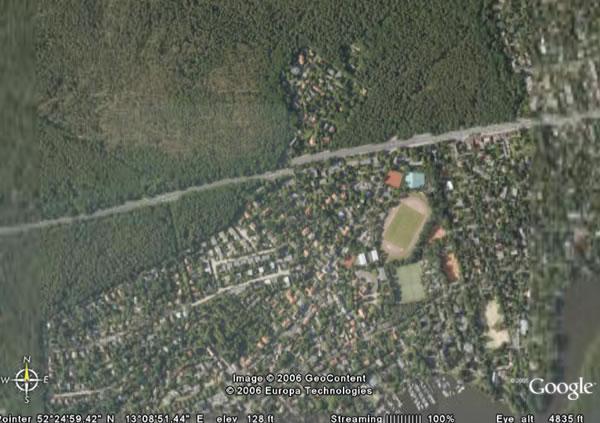 google earth: offset road in berlin, germany