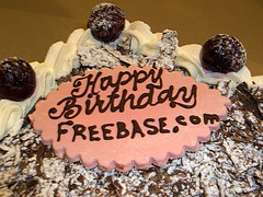 """Happy Birthday freebase.com"", by Flickr user willsfca. Thanks!"